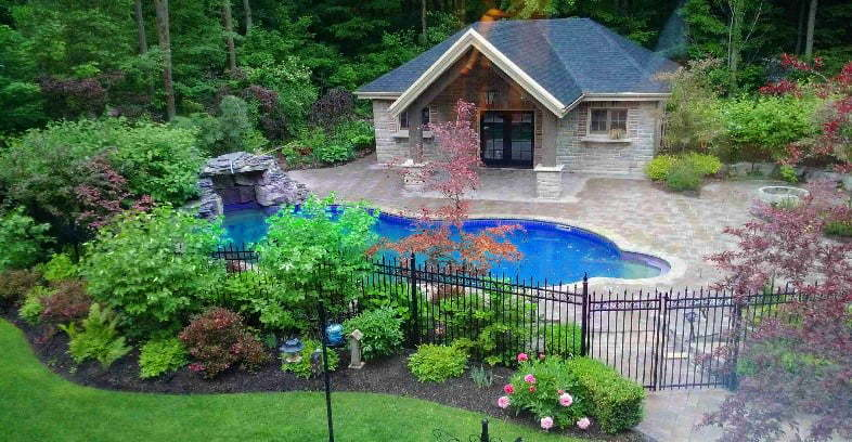 Pool House Backyard Project Custom Building