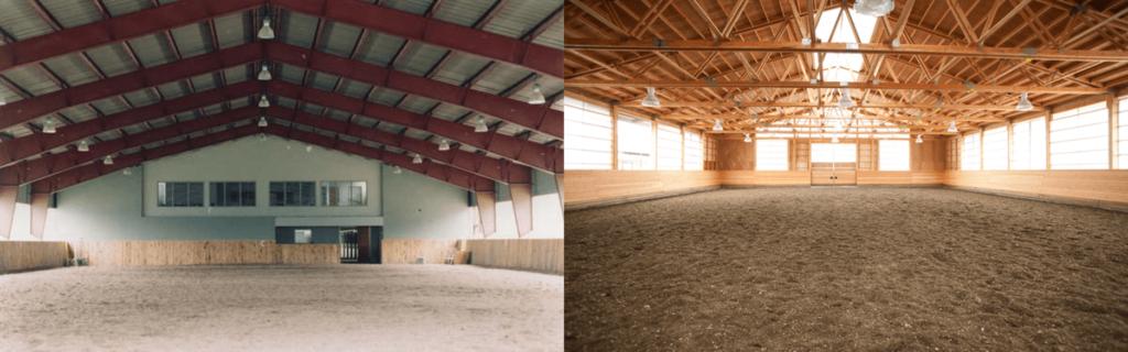 steel vs wood riding arena