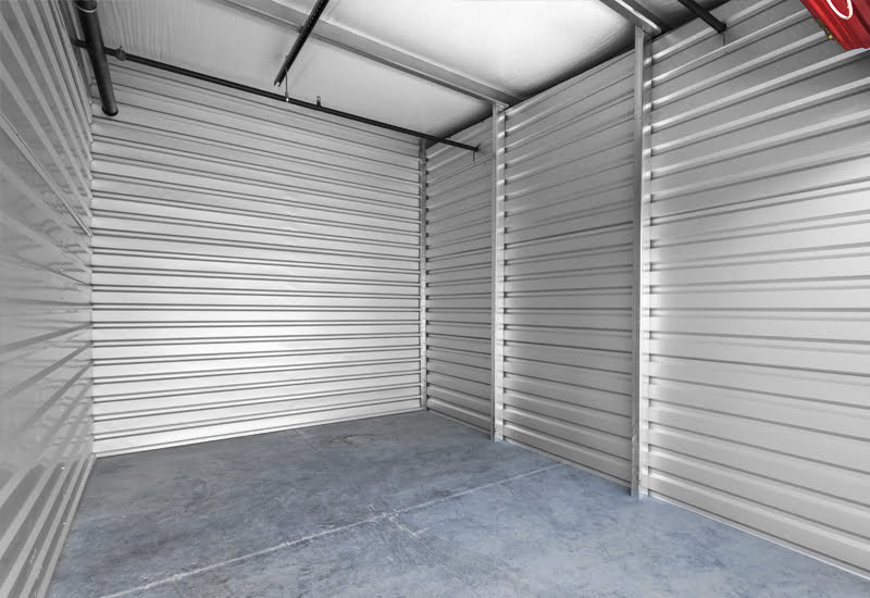 Inside of a steel storage unit
