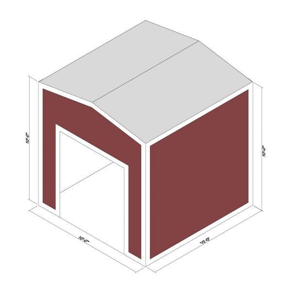 10x10x10 Prefab Steel Building Kit