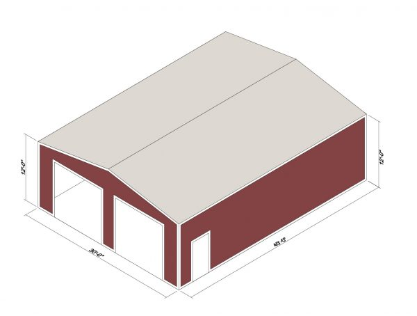 30x40x12 Prefab Steel Building Kit
